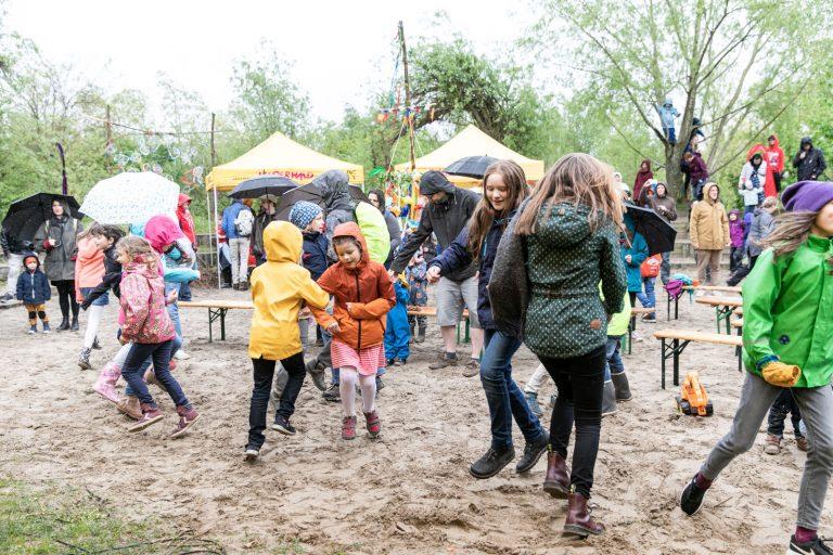 Frühlingsfest 2019 im Kinderwald Hannover am 27. April 2019.